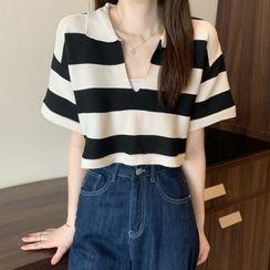 Shopherd - Short-Sleeve Striped Polo Shirt