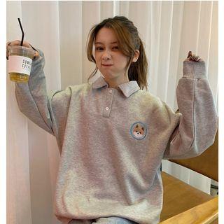 Whoosh - Polo Sweatshirt with Dog Embroidery