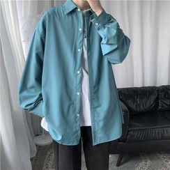 8th Sense - Long-Sleeve Plain Shirt