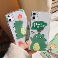 kloudkase - Dinosaur Print Phone Case - iPhone 12 Pro Max / 12 Pro / 12 / 12 mini / 11 Pro Max / 11 Pro / 11 / SE / XS Max / XS / XR / X / SE 2 / 8 / 8 Plus / 7 / 7 Plus / 6 / 6 Plus