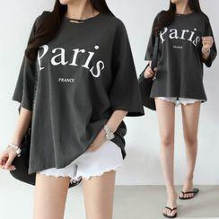 Seoul Fashion - 'Paris' Letter Print T-Shirt