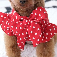 Mily Pets - Dotted Bow-accent Pet Top