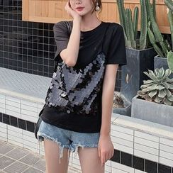 Bornite - Mock Two-Piece Short-Sleeve T-Shirt