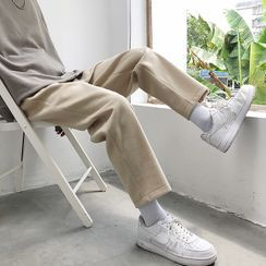 Shazoom - Cropped Straight Leg Pants