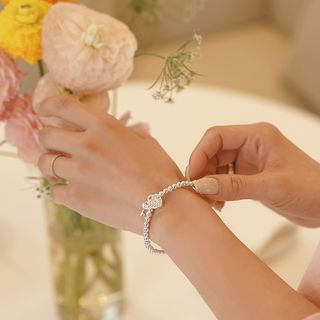 CLICK - Heart-Pendant Bracelet