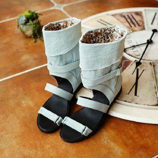 Freesia - Denim Boot Sandals