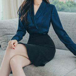 Cape Jasmine - 長袖V領襯衫 / 魚尾裙 / 套裝