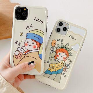 Primitivo - Girl Print Phone Case For iPhone 7 / 7 Plus / 8 / 8 Plus / X / XS / XR / 11 / 11 Pro / 11 Pro Max