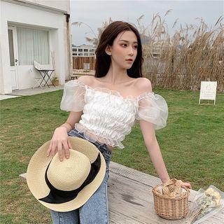 NENE - 露肩泡泡袖衬衫