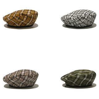 Heloi - Plaid Beret Hat