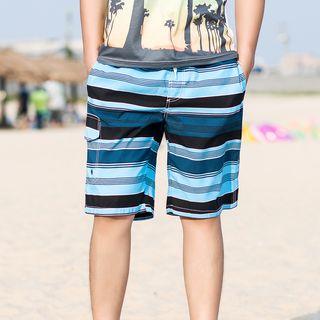 Carser - Striped Swim Trunks