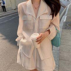 Apotheosis - 套裝: 飾口袋襯衫 + 短褲