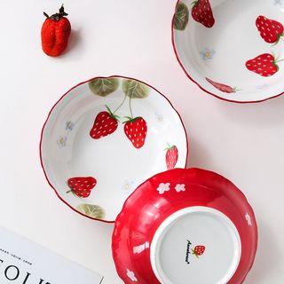 Kawa Simaya - Strawberry Print Ceramic Bowl