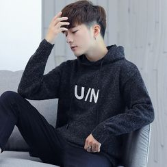 Ficus House - Embroidered Knit Hoodie