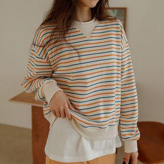 JUSTONE - Multicolor-Stripe Sweatshirt