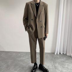 Deepwood - 套装: 双排扣西装外套 + 西裤