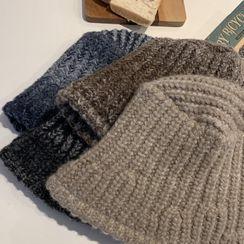 DABAGIRL - Ribbed Knit Bucket Hat