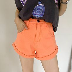 DEEPNY - Colored Rollup Cotton Shorts