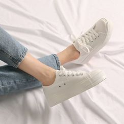 Wifky - Grommet-Accent Canvas Sneakers