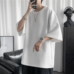 SuperLittle - Short-Sleeve Quilted T-Shirt