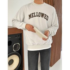 JOGUNSHOP(ジョグンショップ) - Letter Printed Cotton Sweatshirt