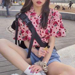 KARLY - Short-Sleeve Fruit Print Shirt