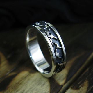 Sterlingworth - Engraved Sterling Silver Band Ring
