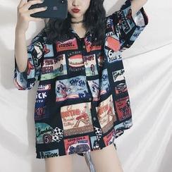 Guajillo - 印花中袖衬衫