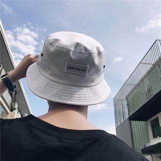 Lazi Boi - Couple Matching Embroidered Letter Bucket Hat