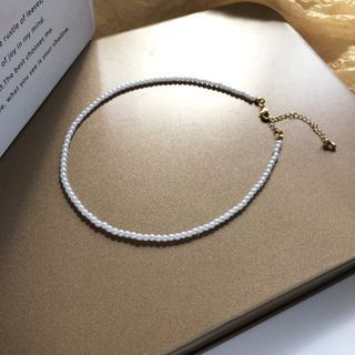 Hollyhock - Faux Pearl Necklace