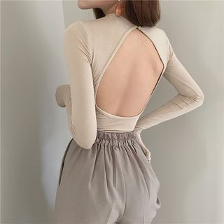 Windflower - Backless Long-Sleeve T-Shirt
