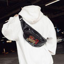 BagBuzz - 刺繡仿皮斜背包
