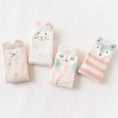 Knit a Bit - Set of 4: Animal Print Socks
