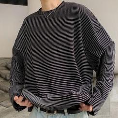 DragonRoad - Camiseta de manga larga a rayas a juego con la pareja