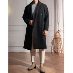 STYLEMAN - Double-Breasted Wool Blend Coat
