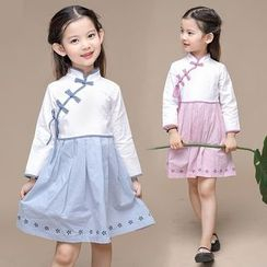 SEE SAW - Kids Long-Sleeve A-Line Qipao Dress