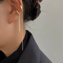 Taimi - Chained Alloy Cuff Earring