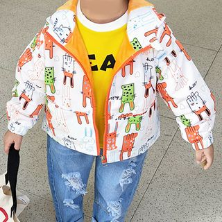 Shaneebabe - Kids Cartoon Printed Zip Hoodie