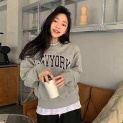 FROMBEGINNING - 'NEWYORK' Letter Sweatshirt