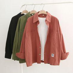 MODUO - Long-Sleeve Applique Shirt