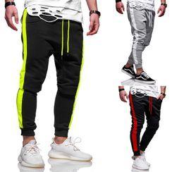 Hansel(ハンセル) - Striped Sweatpants