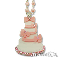 Sweet & Co. - Sweet Pink dolly cake swarovski pearly long necklace