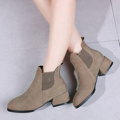 Aneka - Chunky-Heel Ankle Chelsea Boots