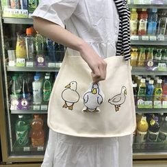 TangTangBags - Duck Printed Canvas Shoulder Bag