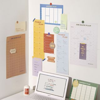 SOONERGO - Printed 100 Day Wall Planner