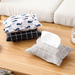 Homy Bazaar - 印花棉麻衛生紙罩