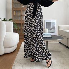 DEEPNY - Daisy-Pattern Maxi Flare Skirt