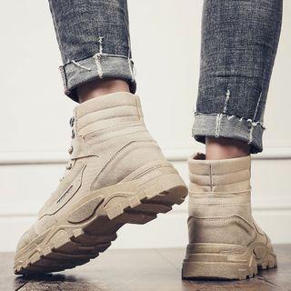 MARTUCCI - Platform Chunky Lace Up Short Boots