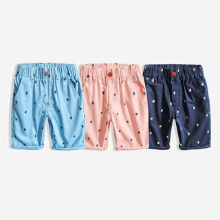 Happy Go Lucky - Kids Elastic Waist Patterned Shorts