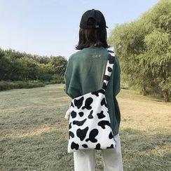 TangTangBags(タンタンバッグズ) - Furry Dairy Print Tote Bag